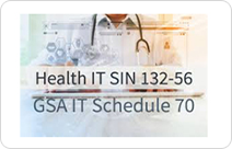 Health IT sin 132-56 GSA IT Schedule 70